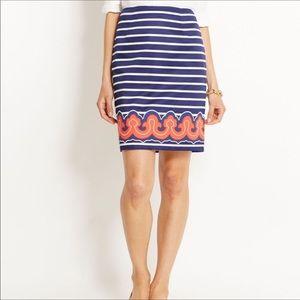 Vineyard Vines blue & white striped skirt Size 10